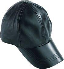 Leather Baseball cap, Leather Hat, Head wear, Black Leather baseball cap, Hat BN