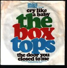 """7"""" the BOX TOPS Cry Like a Baby/The Door you closed to me 70`s mala"""