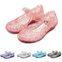 Toddler Infant Kid Girl Wedge Princess Sandals Dance Party Cosplay Jelly Shoe AU