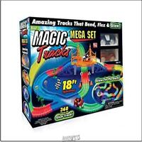 Magic Tracks Mega Set with 18ft Racetrack with 2 Race Cars As Seen on TV