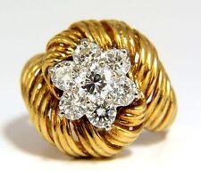 █$5000 1.50ct NATURAL DIAMONDS 3D CURLING TWIST CLUSTER RING 18KT G/VS