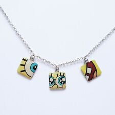 "22"" 2010 Viacom Abstract Spongebob Squarepants Necklace Silver Metal Collectible"