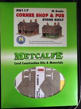 Metcalfe Kit PN117. Corner Shop And Pub. Stone Built.  N Scale.