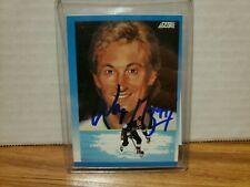 1991-92 Score Canadian Bilingual Kings Hockey Card #376 Wayne Gretzky signed COA