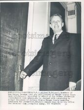 1960 New Jersey Governor Alfred Driscoll in Bergen County Court Press Photo