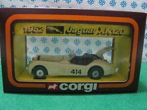 Vintage -  JAGUAR  XK 120  1952        -  Corgi toys  804