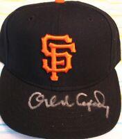 Orlando Cepeda autographed signed auto Giants authentic game model cap hat FLEER