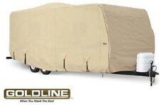Goldline RV Cover Travel Trailer 32 to 34 foot Tan