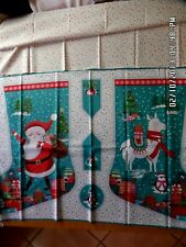 "Makower Let it snow Christmas Stocking panel 23""x44"" Plus matching Fabric Panel"