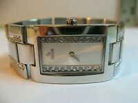 STROILI WOMAN'S STAINLESS STEEL QUARTZ WATCH/GOOD COND/KEEPS TIME/NEW BATT/WR.