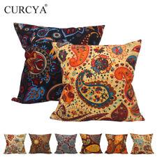 CURCYA Classic Paisley Pattern Cushion Cover Home Decor Vintage Sofa Pillow Case