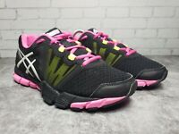 ASICS Women's Size 7 S383N Black/Pink Mesh Athletic Sneaker