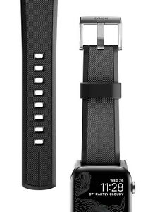 NOMAD Apple WATCH Silicon BAND 42 mm RUGGED STRAP with BLACK Hardware WATERPROOF