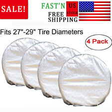 4 pcs RV Wheel Tire Cover Truck Car Camper Trailer Waterproof Aluminum 27-29""