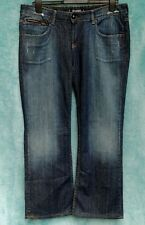 Full Circle Cult of Denim Jeans Size 34 29L Dark Sandblasted Bootcut Distressed