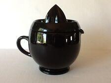 Depression Kitchenware Glass Fenton Black #1209 Pitcher Jug and Reamer Set