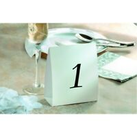 Table Numbers Wedding 1-12 White Standing Reception Decorations Signs