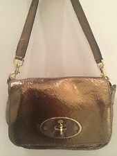 MULBERRY Metallic Gold Evening Handbag Clutch