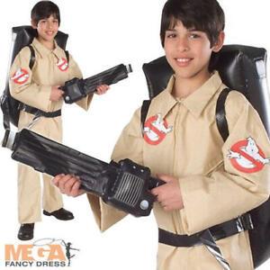 Ghostbusters Kids Fancy Dress Halloween 1980s Childrens Ghostbuster Boys Costume