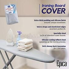 Universal Coated Ironing Board Silver Cover 4mm Pad Thick Reflect Heat Non-Slip