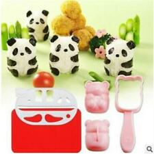 Kitchen Panda Shape Sushi Maker Mould Rice Ball Mould Punch Combo DIY Kit KV
