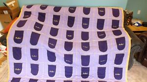 """CROWN ROYAL Handmade Quilt - NEW - 78"""" SQUARE"""