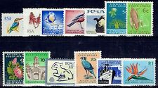 South Africa 1972 Republic 1st Definitive no wmk set of 13 unhinged
