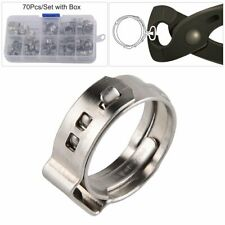 70Pcs Grip Clamp Pex Clamp Cinch Rings Crimp Pinch Hose Clamp Fitting Multi-size