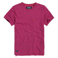 Superdry Nuevo Hombre Seco Originals Bolsillo Camiseta - Florida Rosa Espacios