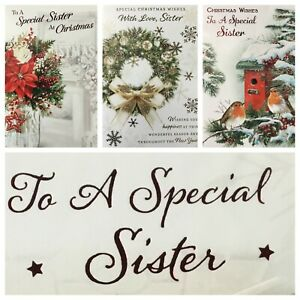 "SISTER CHRISTMAS CARD 5.5""x7.5""  (XMAS8)"