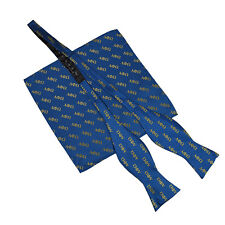 Alpha Phi Omega Letter Untied Bow Tie and Handkerchief/Hanky Set APO