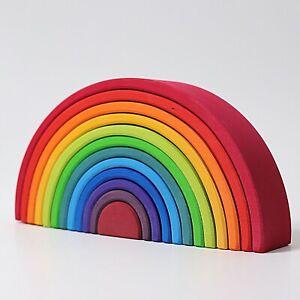 Holzspielzeug Holzbaurahmen Regenbogen Bauen konstruieren Grimms