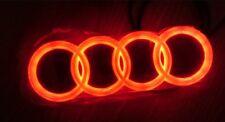 Audi Kühlergrill Emblem LED Rot Auto Zeichen Beleuchtetes Logo Badge 180 x 58mm
