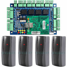 TCP IP Ethernet Network Access Control Board Panel Controller with 4 RFID Reader