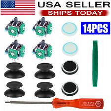 For PS4 Controller Analog Stick Joystick Parts With Caps Replacement Tool Kits