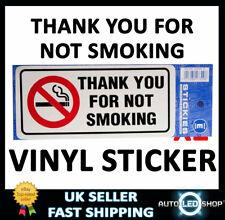 Grazie per non fumare Adesivo-VINILE all'aperto V452 auto van taxi bus