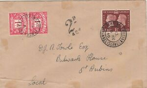 JERSEY 1940 GEORGE V1 POSTAGE DUE COVER.Rfno.E407.
