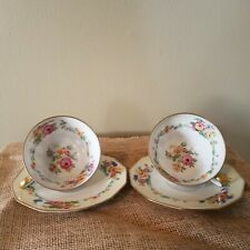 New ListingSet Of 2 C. Ahrenfeldt Limoges France Tea Cups and Saucers