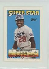 1988 Super Star Sticker Back Cards Pedro Guerrero Keith Hernandez Jesse Barfield