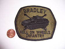 BRADLEY HELL ON WHEELS INFANTRY PATCH GULF WAR DESERT STORM ARMORED TANK