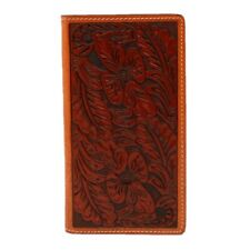 3D Tan Floral Hand-Tooled Western Rodeo Bi-Fold Wallet DW151