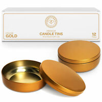 16oz Gold Candle Tins with Lids Metal Jar for Candles & Candle Making Supplies