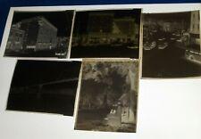 5 Rochester, Pa Photo Negatives 1955 Street View, Penn-Beaver Hotel & Monument