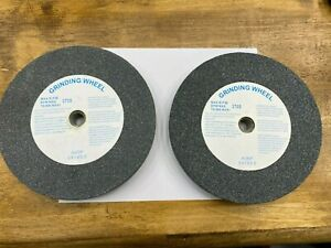 "GITACHI Grinding Wheels 2 Piece Lot Set (8"" x 1"" x 5/8"") A60P A36P 3700 MAX RPM"