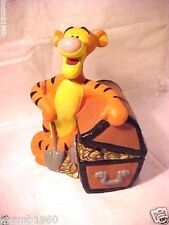 "Tigger Bank Walt Disney Winnie the Pooh PVC Coin Treasure Chest 7"" Collectible"