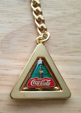 "New Coca Cola ""Spinning Triangle"" Keychain, 4 1/2"" Tall"