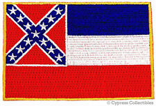 Mississippi State Flag Embroidered Patch Southern Ms iron-on applique Emblem