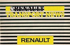 Renault publicitaires 1986-87 uk market sales brochure 5 van extra trafic master