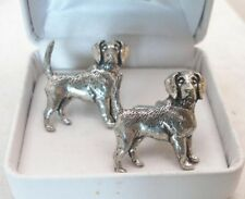 Beagle Dog Cufflinks in Fine English Pewter, Gift Boxed