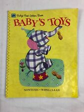 Baby's First Golden Book Baby's Toys Vintage Cloth Book Nontoxic Wipes Clean